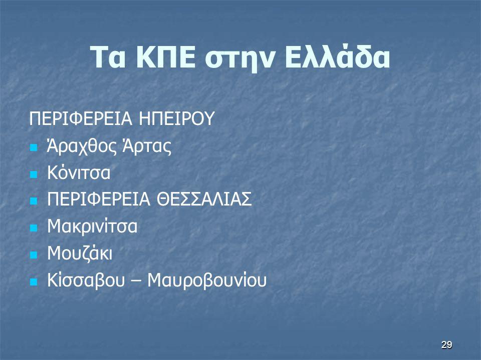 Τα ΚΠΕ στην Ελλάδα ΠΕΡΙΦΕΡΕΙΑ ΗΠΕΙΡΟΥ Άραχθος Άρτας Κόνιτσα