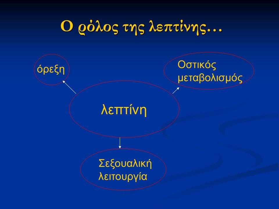 Ο ρόλος της λεπτίνης… λεπτίνη Οστικός μεταβολισμός όρεξη