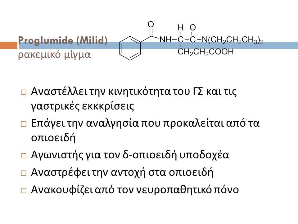 Proglumide (Milid) ρακεμικό μίγμα