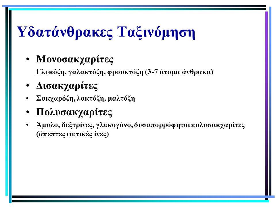 Υδατάνθρακες Ταξινόμηση