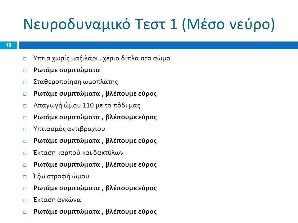 Νευροδυναμικό Τεστ 1 (Μέσο νεύρο)