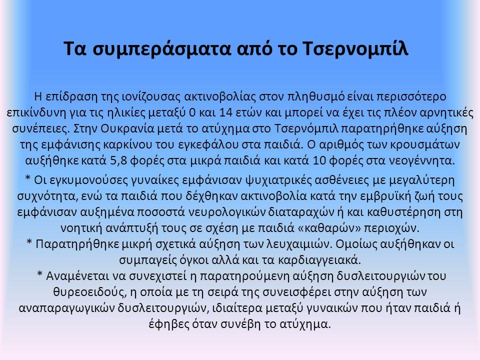 Τα συμπεράσματα από το Τσερνομπίλ