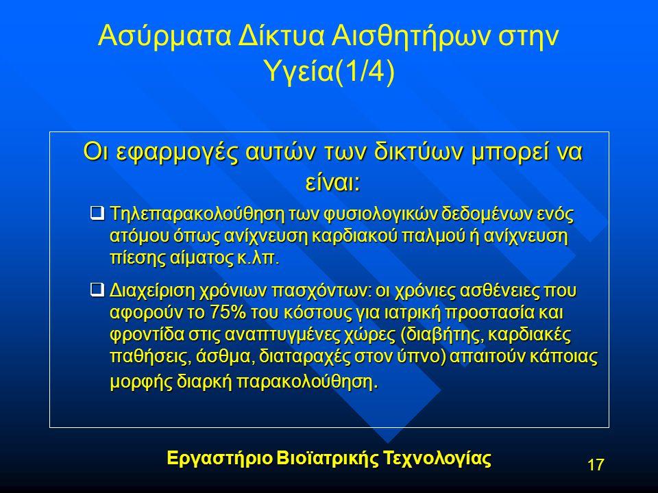 Ασύρματα Δίκτυα Αισθητήρων στην Υγεία(1/4)
