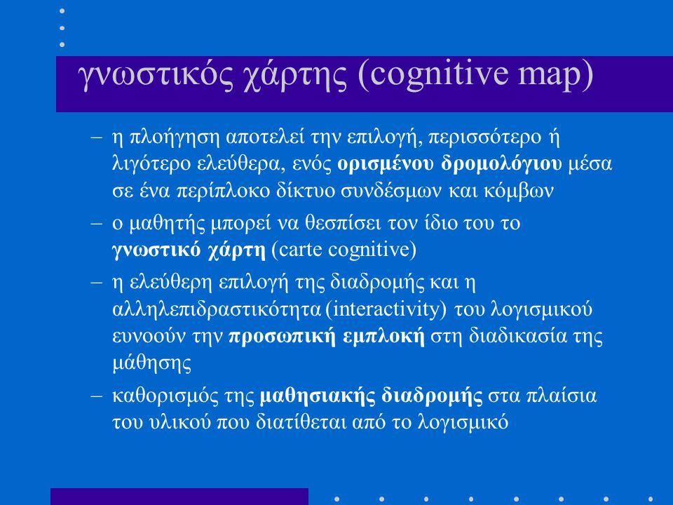 γνωστικός χάρτης (cognitive map)