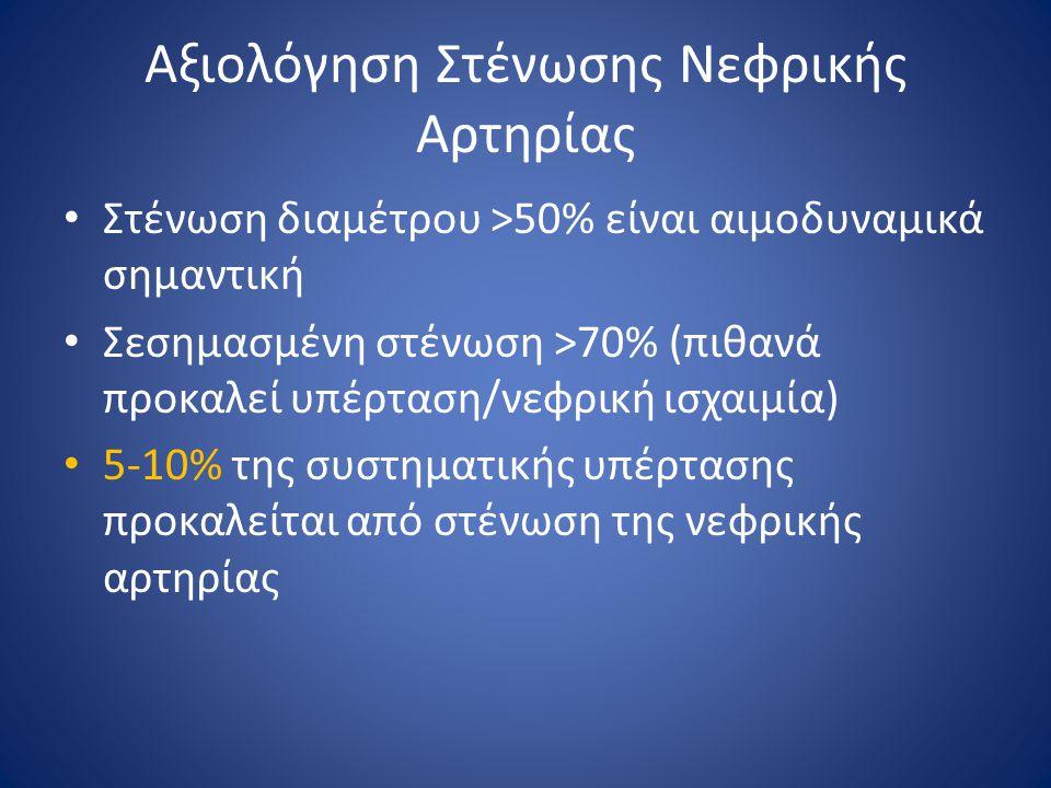 Αξιολόγηση Στένωσης Νεφρικής Αρτηρίας