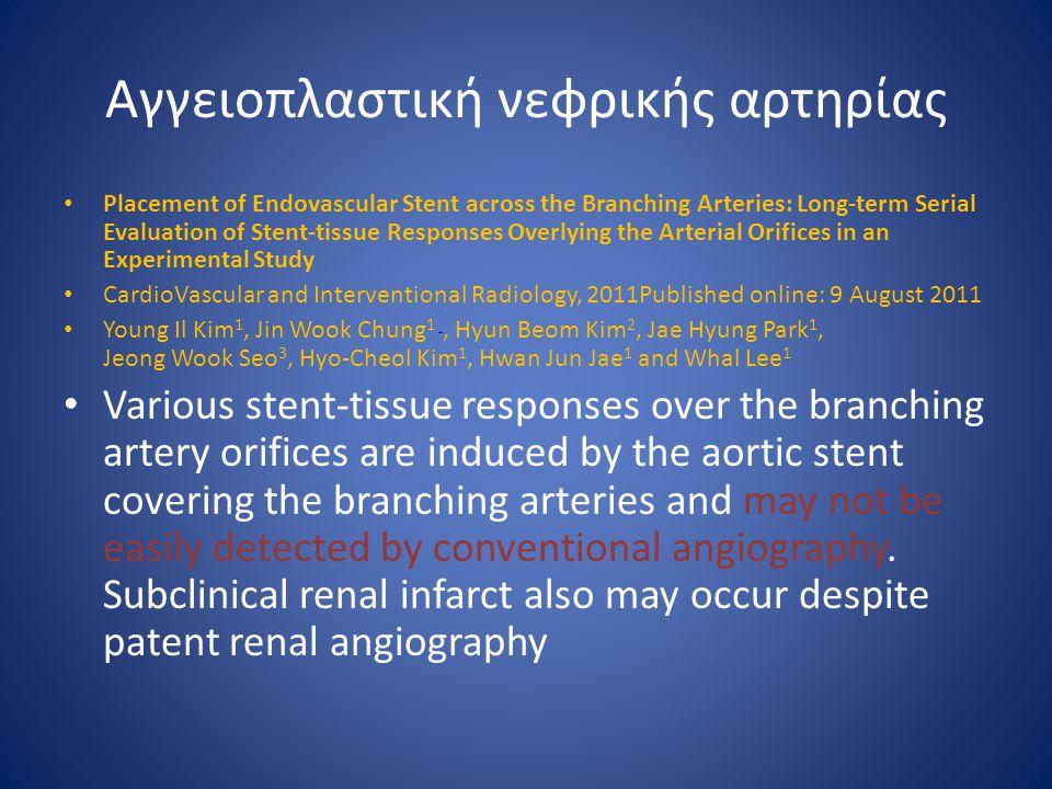 Αγγειοπλαστική νεφρικής αρτηρίας