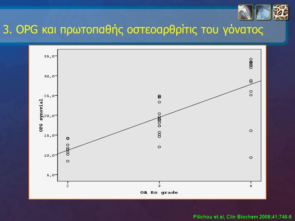3. OPG και πρωτοπαθής οστεοαρθρίτις του γόνατος