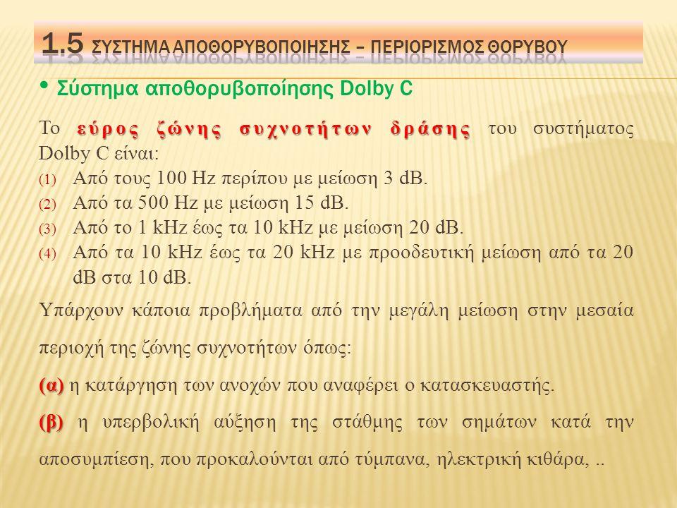 1.5 Σύστημα αποθορυβοποιησησ – περιορισμοσ θορυβου