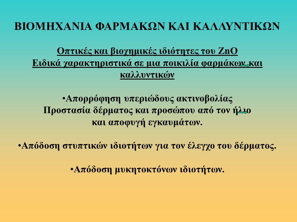 ΒΙΟΜΗΧΑΝΙΑ ΦΑΡΜΑΚΩΝ ΚΑΙ ΚΑΛΛΥΝΤΙΚΩΝ