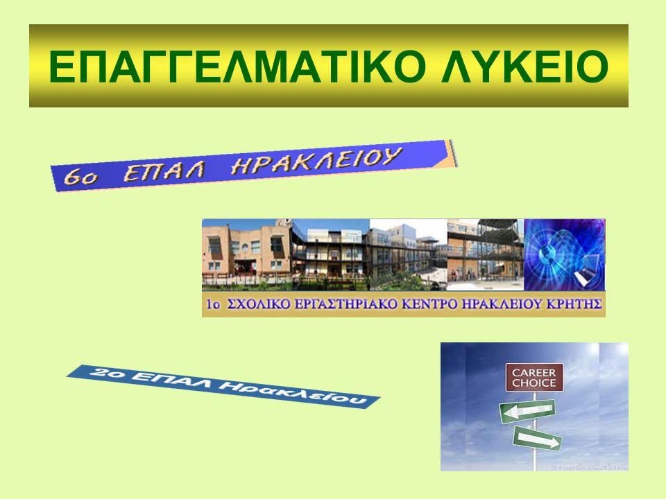 ΕΠΑΓΓΕΛΜΑΤΙΚΟ ΛΥΚΕΙΟ