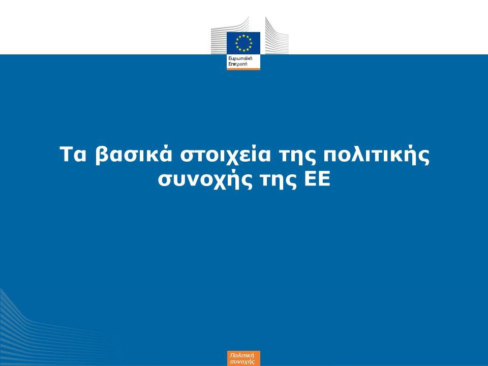 Τα βασικά στοιχεία της πολιτικής συνοχής της ΕΕ