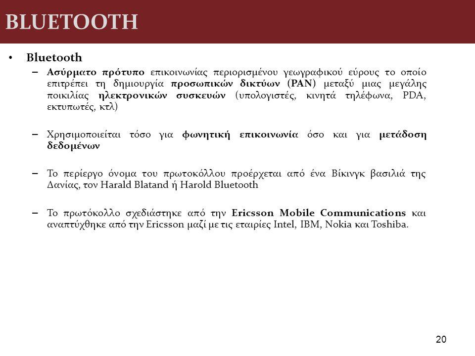 BLUETOOTH Βluetooth.
