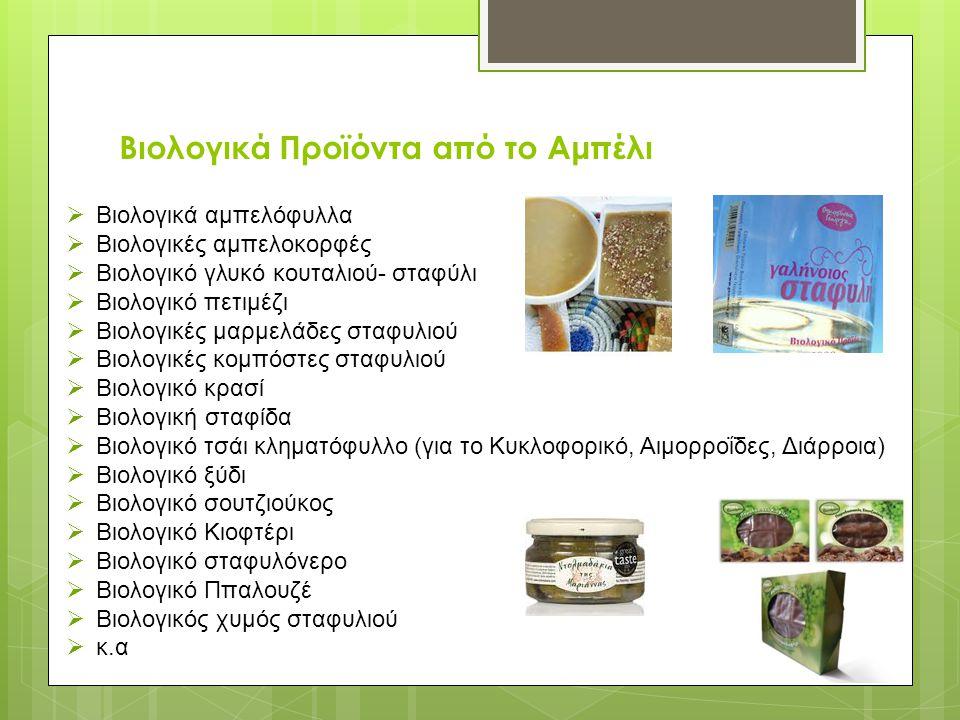 Βιολογικά Προϊόντα από το Αμπέλι