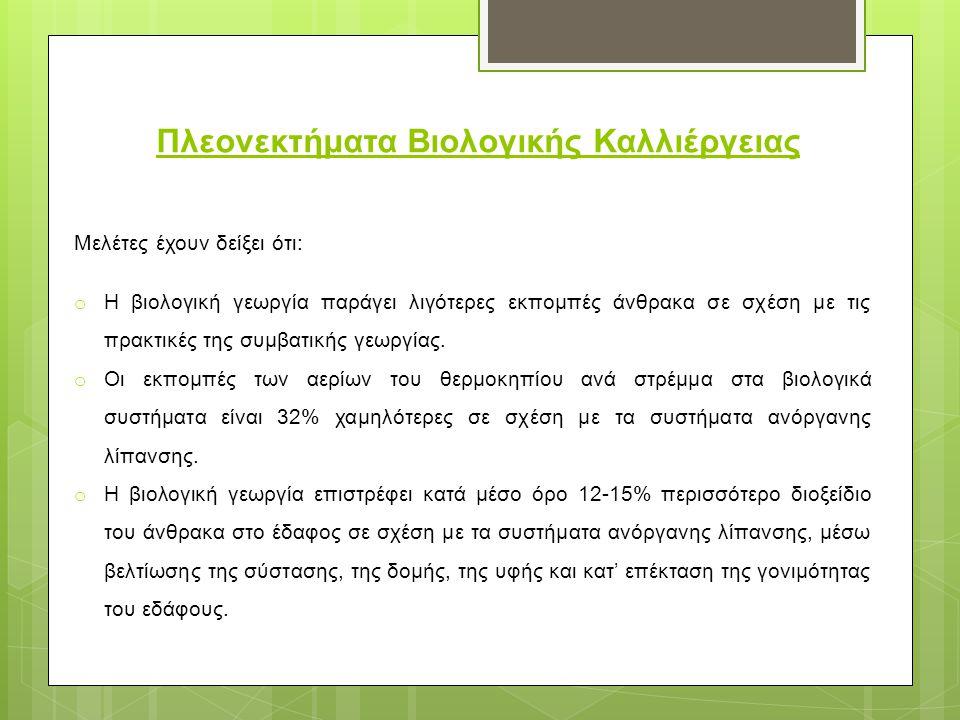 Πλεονεκτήματα Βιολογικής Καλλιέργειας