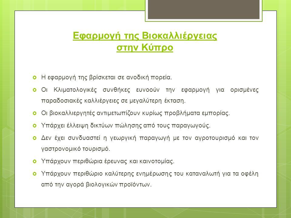 Εφαρμογή της Βιοκαλλιέργειας στην Κύπρο