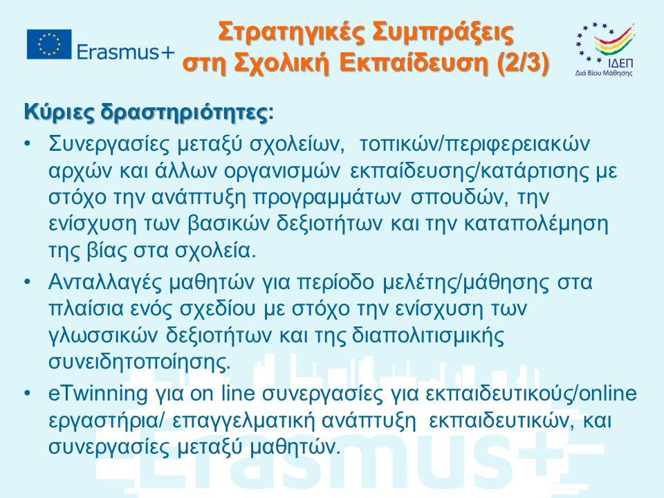 Στρατηγικές Συμπράξεις στη Σχολική Εκπαίδευση (2/3)