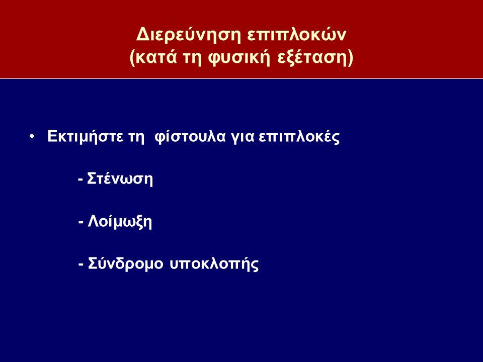 Διερεύνηση επιπλοκών (κατά τη φυσική εξέταση)