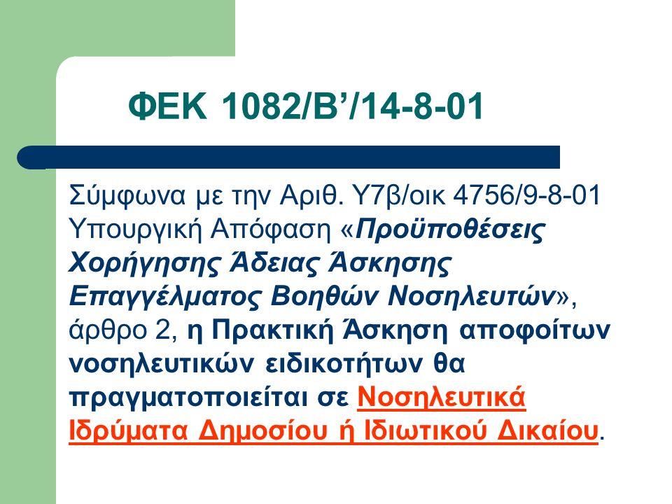 ΦΕΚ 1082/Β'/14-8-01