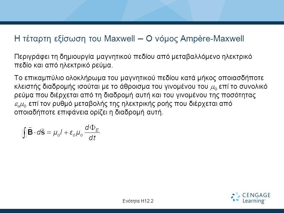 Η τέταρτη εξίσωση του Maxwell – Ο νόμος Ampère-Maxwell