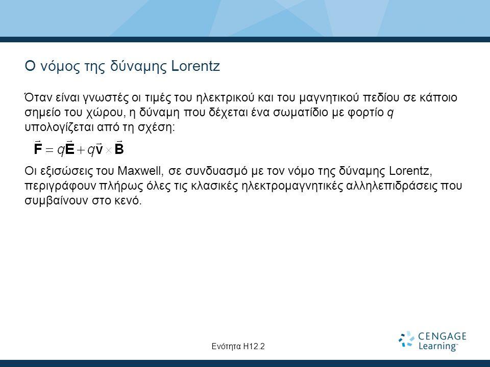 Ο νόμος της δύναμης Lorentz