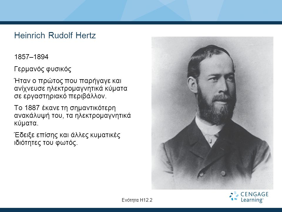 Heinrich Rudolf Hertz 1857–1894 Γερμανός φυσικός
