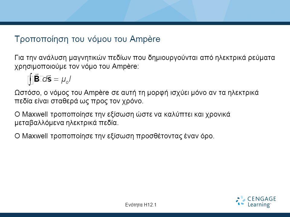Τροποποίηση του νόμου του Ampère