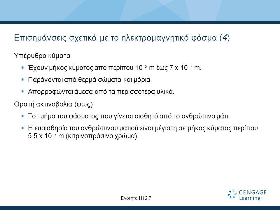 Επισημάνσεις σχετικά με το ηλεκτρομαγνητικό φάσμα (4)