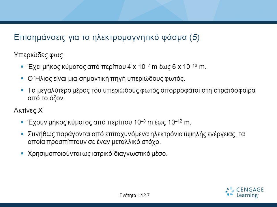 Επισημάνσεις για το ηλεκτρομαγνητικό φάσμα (5)