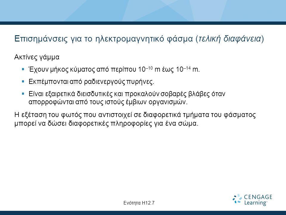 Επισημάνσεις για το ηλεκτρομαγνητικό φάσμα (τελική διαφάνεια)