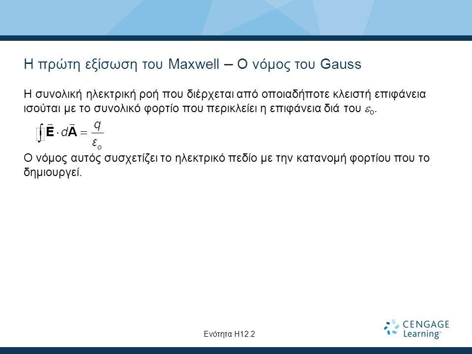 Η πρώτη εξίσωση του Maxwell – Ο νόμος του Gauss