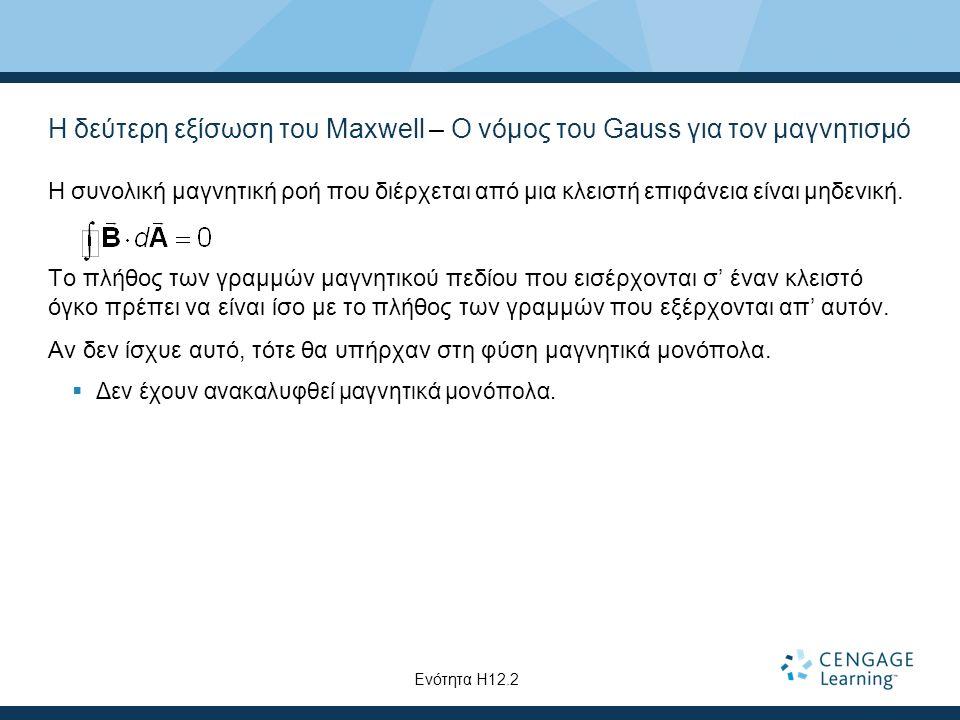 Η δεύτερη εξίσωση του Maxwell – Ο νόμος του Gauss για τον μαγνητισμό