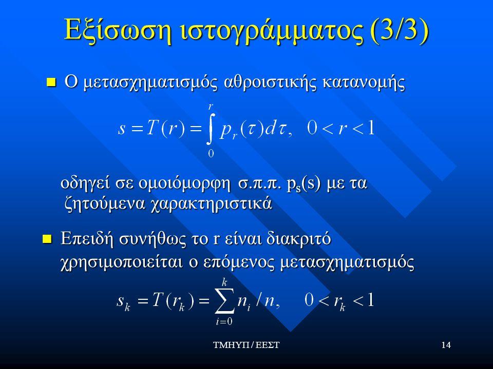 Εξίσωση ιστογράμματος (3/3)