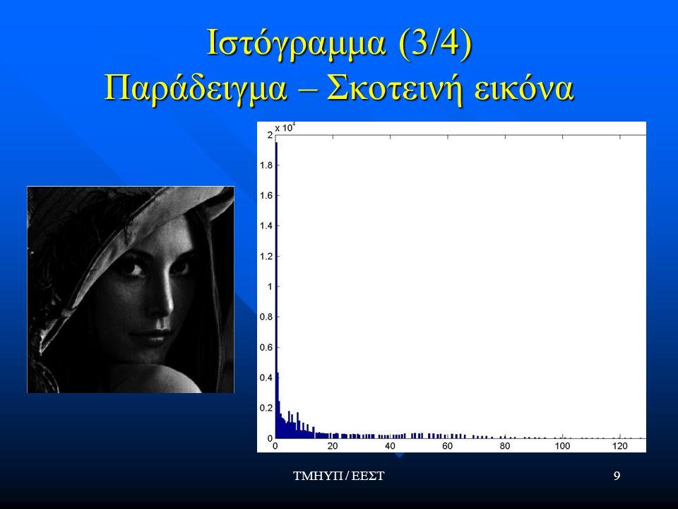 Ιστόγραμμα (3/4) Παράδειγμα – Σκοτεινή εικόνα