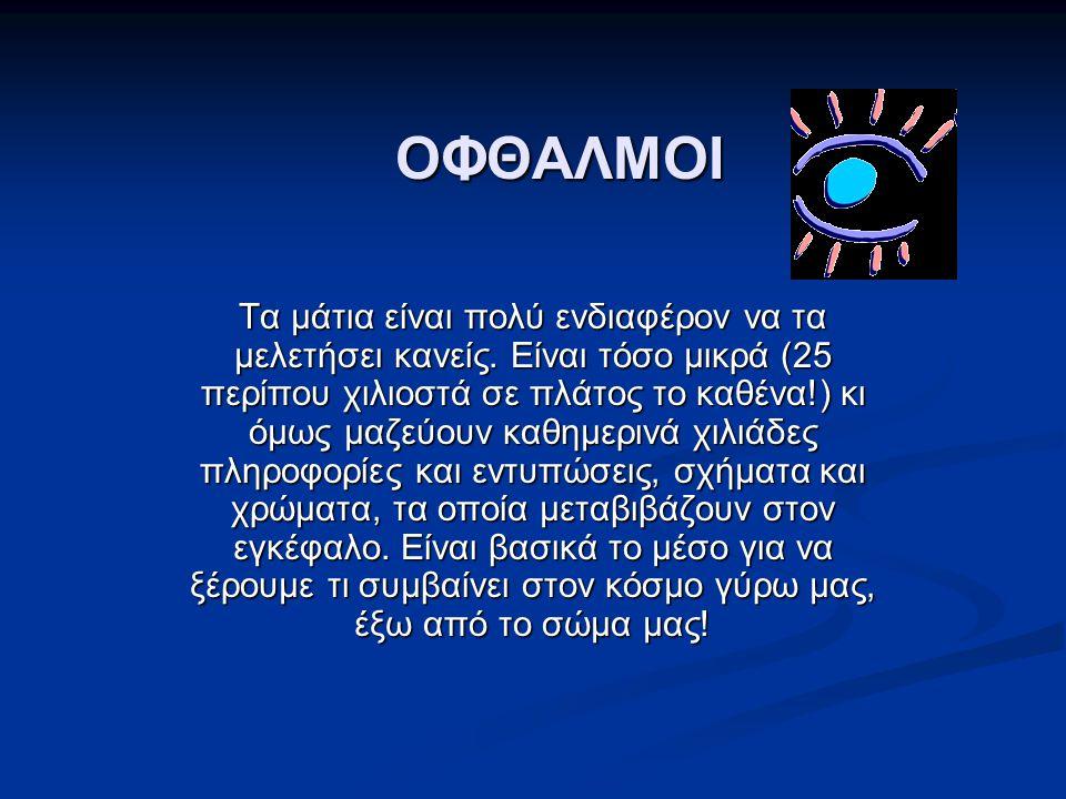 ΟΦΘΑΛΜΟΙ