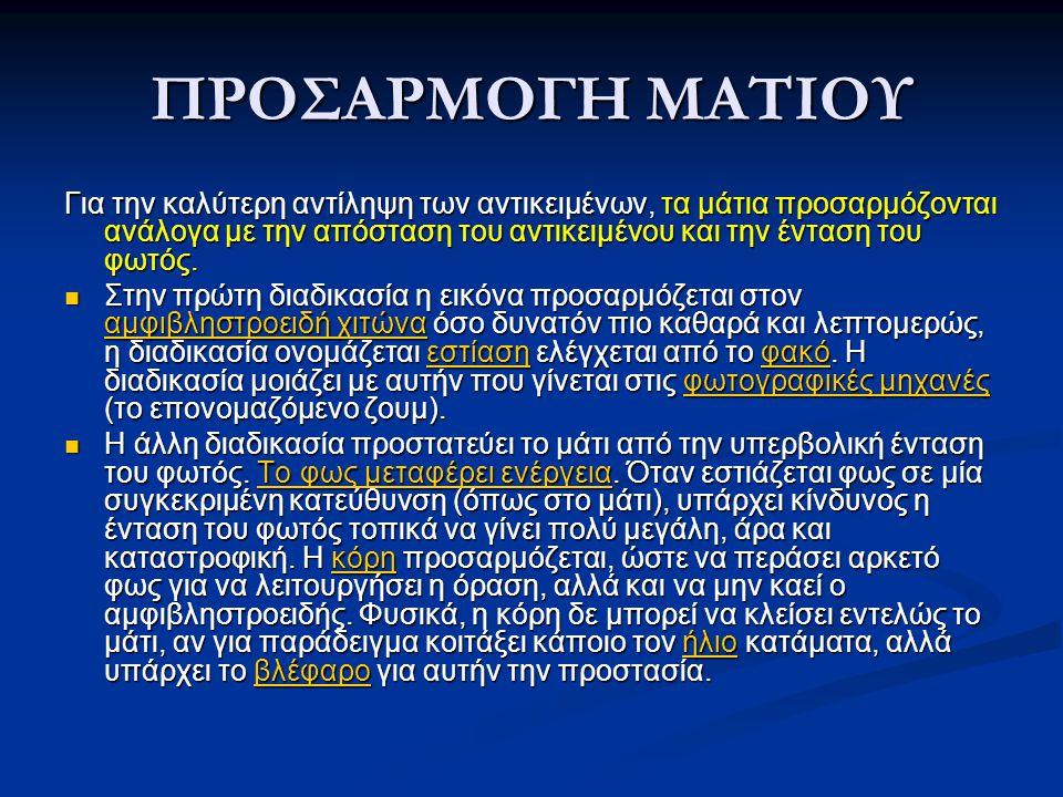 ΠΡΟΣΑΡΜΟΓΗ ΜΑΤΙΟΥ