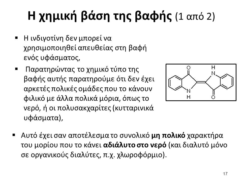 Η χημική βάση της βαφής (2 από 2)