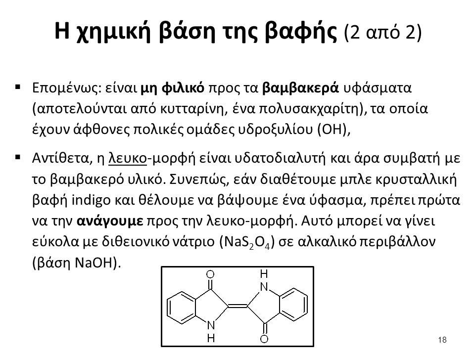 Η χημεία της βιομηχανικής βαφής με indigo (1 από 2)