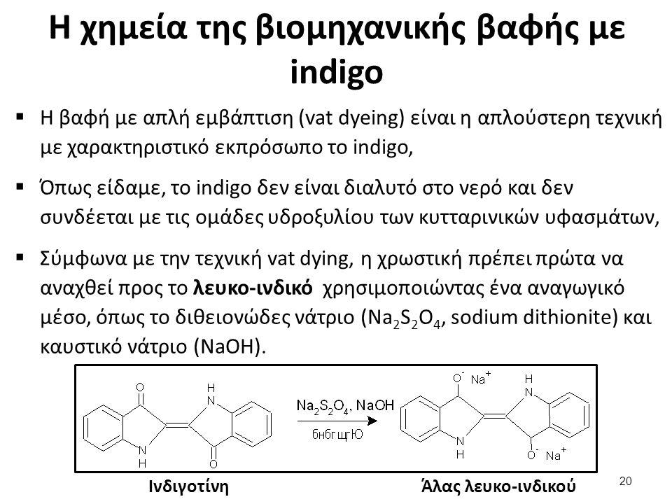 Η χημεία της βιομηχανικής βαφής με indigo (2 από 2)