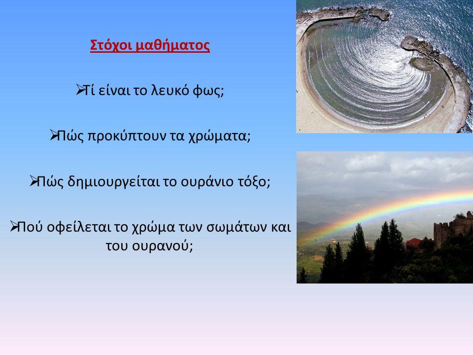 Πώς προκύπτουν τα χρώματα; Πώς δημιουργείται το ουράνιο τόξο;