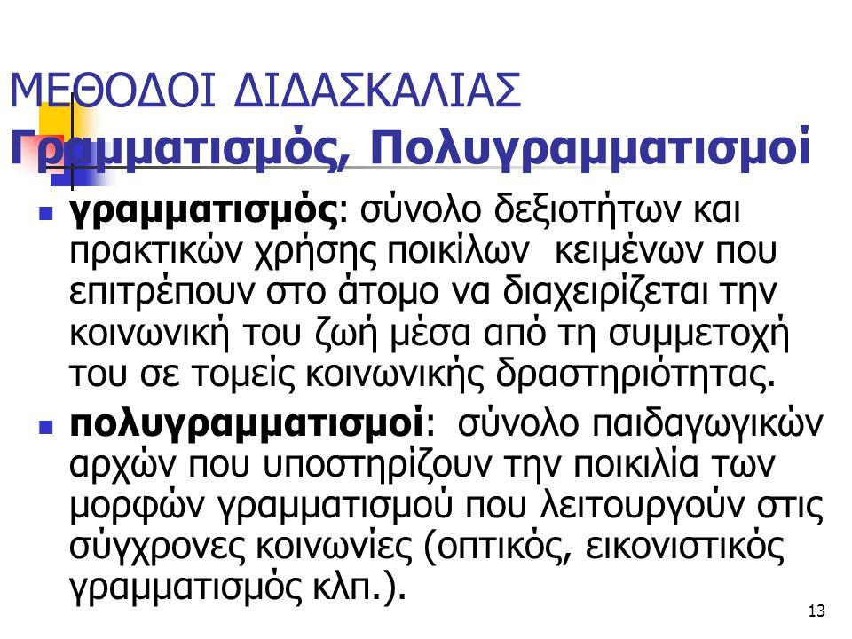 ΜΕΘΟΔΟΙ ΔΙΔΑΣΚΑΛΙΑΣ Γραμματισμός, Πολυγραμματισμοί