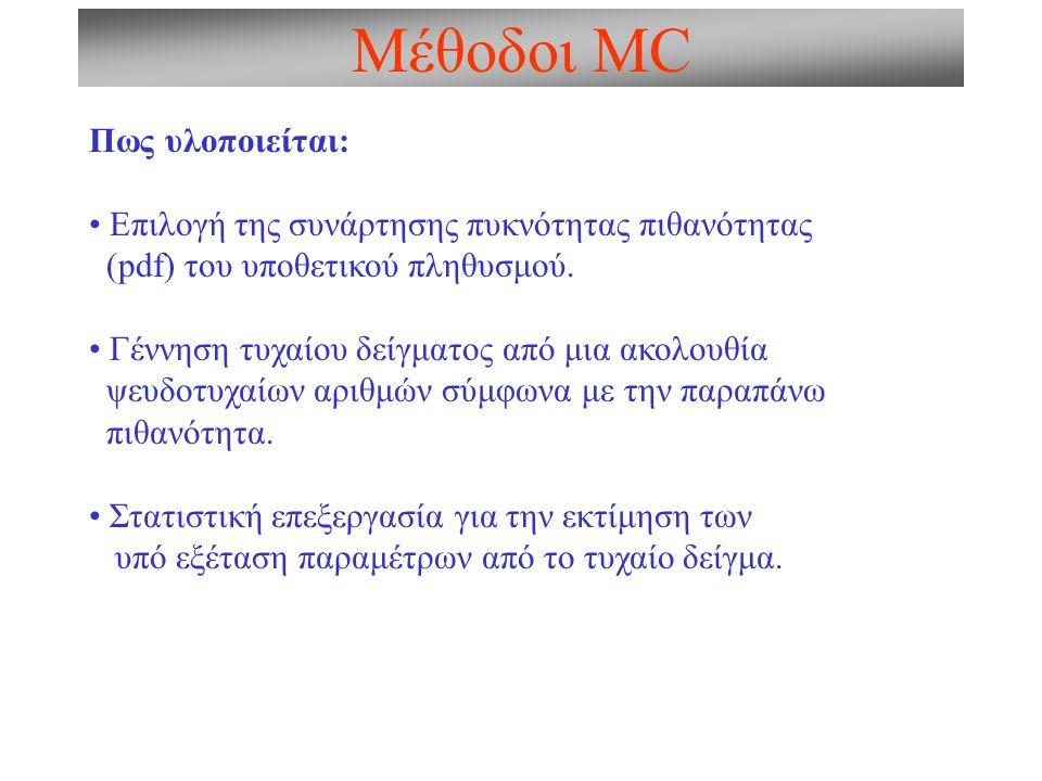 Μέθοδοι MC Πως υλοποιείται: