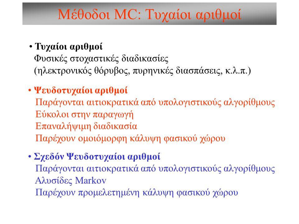 Μέθοδοι MC: Τυχαίοι αριθμοί
