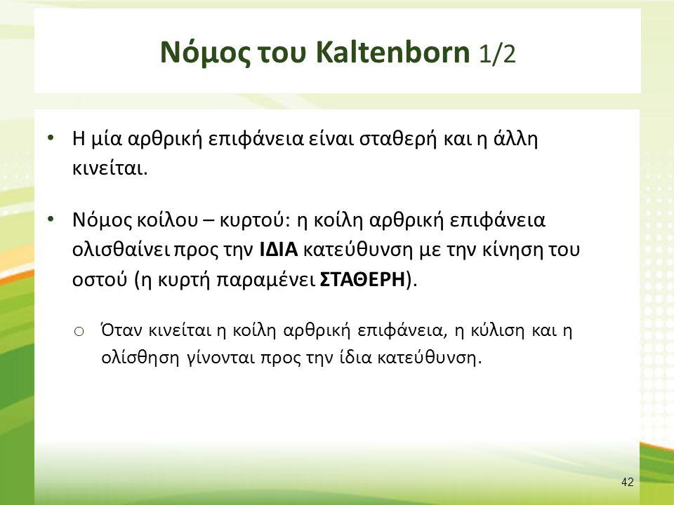 Νόμος του Kaltenborn 2/2