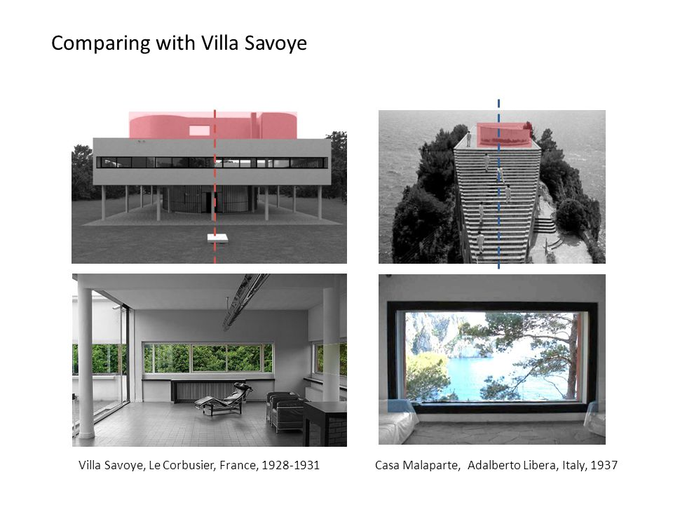 Comparing with Villa Savoye