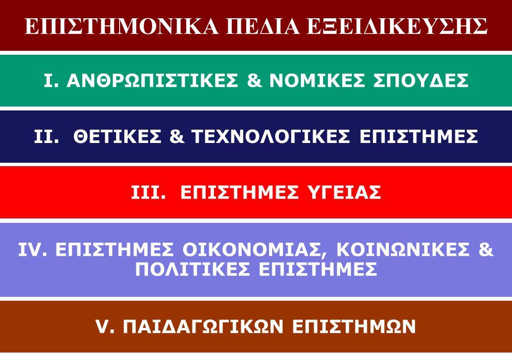 ΕΠΙΣΤΗΜΟΝΙΚΑ ΠΕΔΙΑ ΕΞΕΙΔΙΚΕΥΣΗΣ