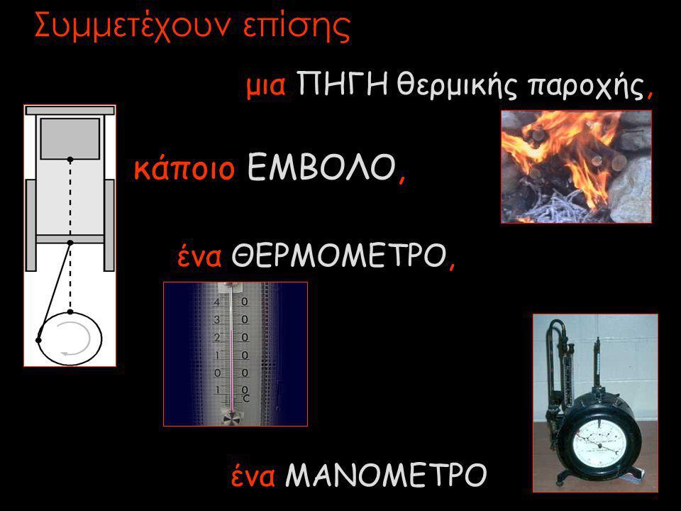 Συμμετέχουν επίσης κάποιο ΕΜΒΟΛΟ, μια ΠΗΓΗ θερμικής παροχής,