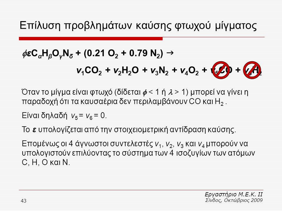 Επίλυση προβλημάτων καύσης φτωχού μίγματος