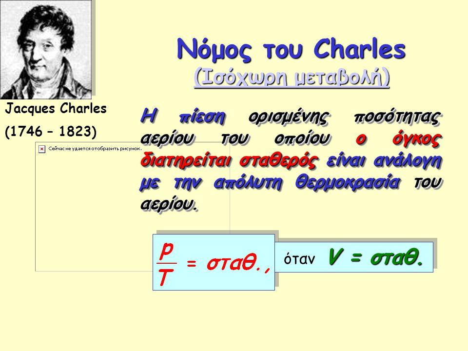 Νόμος του Charles (Ισόχωρη μεταβολή)