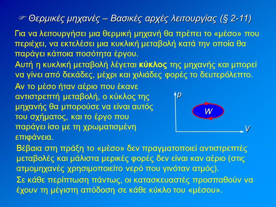  Θερμικές μηχανές – Βασικές αρχές λειτουργίας (§ 2-11)