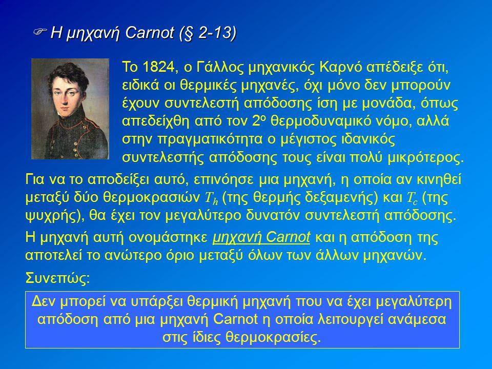  Η μηχανή Carnot (§ 2-13)